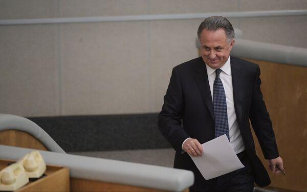 Заместитель председателя правительства РФ Виталий Мутко на пленарном заседании Государственной Думы РФ