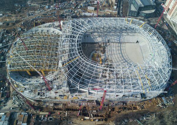 Строительство ВТБ Арена - Центральный стадион Динамо в Петровском парке Москвы