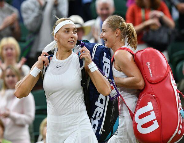 Слева направо: Елена Веснина и Екатерина Макарова