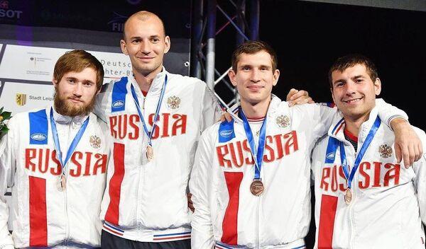 Никита Глазков, Сергей Ходос, Антон Глебко и Павел Сухов (слева направо)