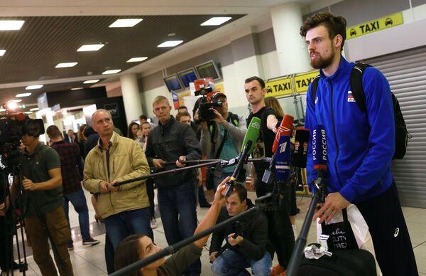 Доигровщик сборной России по волейболу Егор Клюка