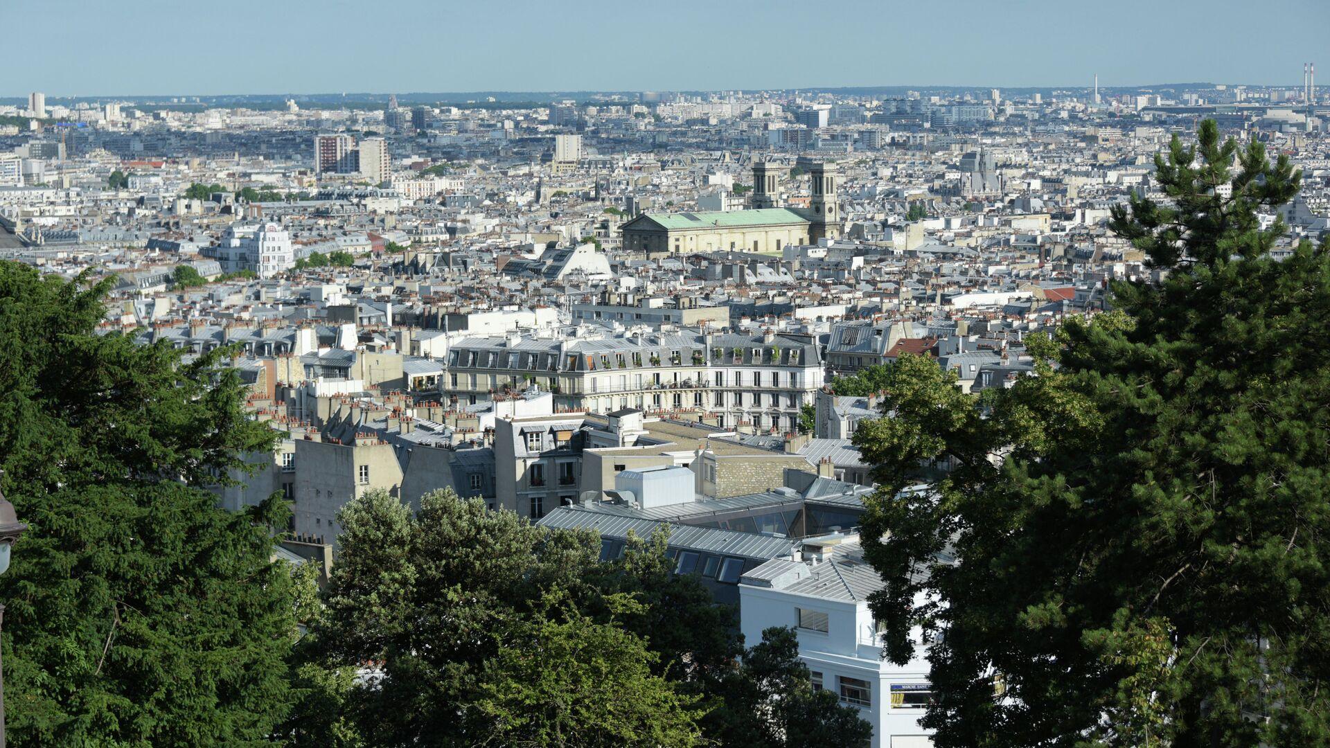 Вид на Париж с холма Монмартр - РИА Новости, 1920, 27.09.2021