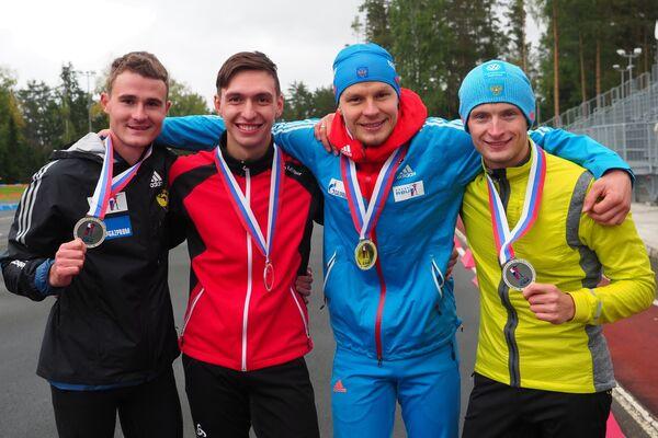 Кирилл Стрельцов, Артем Сорокин, Матвей Елисеев и Максим Цветков (слева направо)