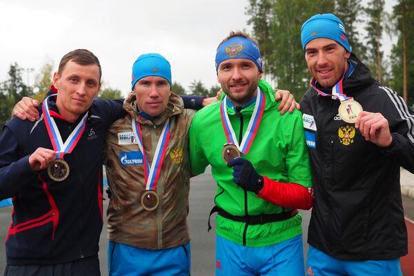 Павел Магазеев, Алексей Слепов, Александр Огарков и Дмитрий Малышко (слева направо)