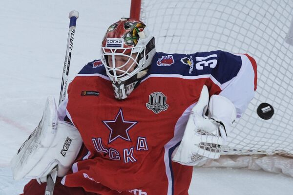 Вратарь ПХК ЦСКА Ларс Юханссон