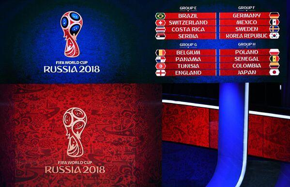 Результаты официальной жеребьевки чемпионата мира-2018 по футболу