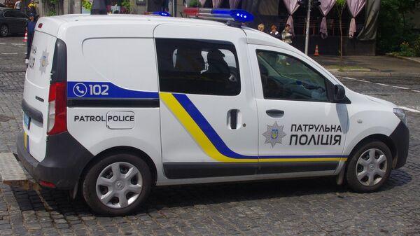 Машина патрульной полиции Украины