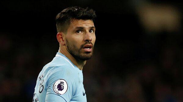 Нападающий английского Манчестер Сити Серхио Агуэро