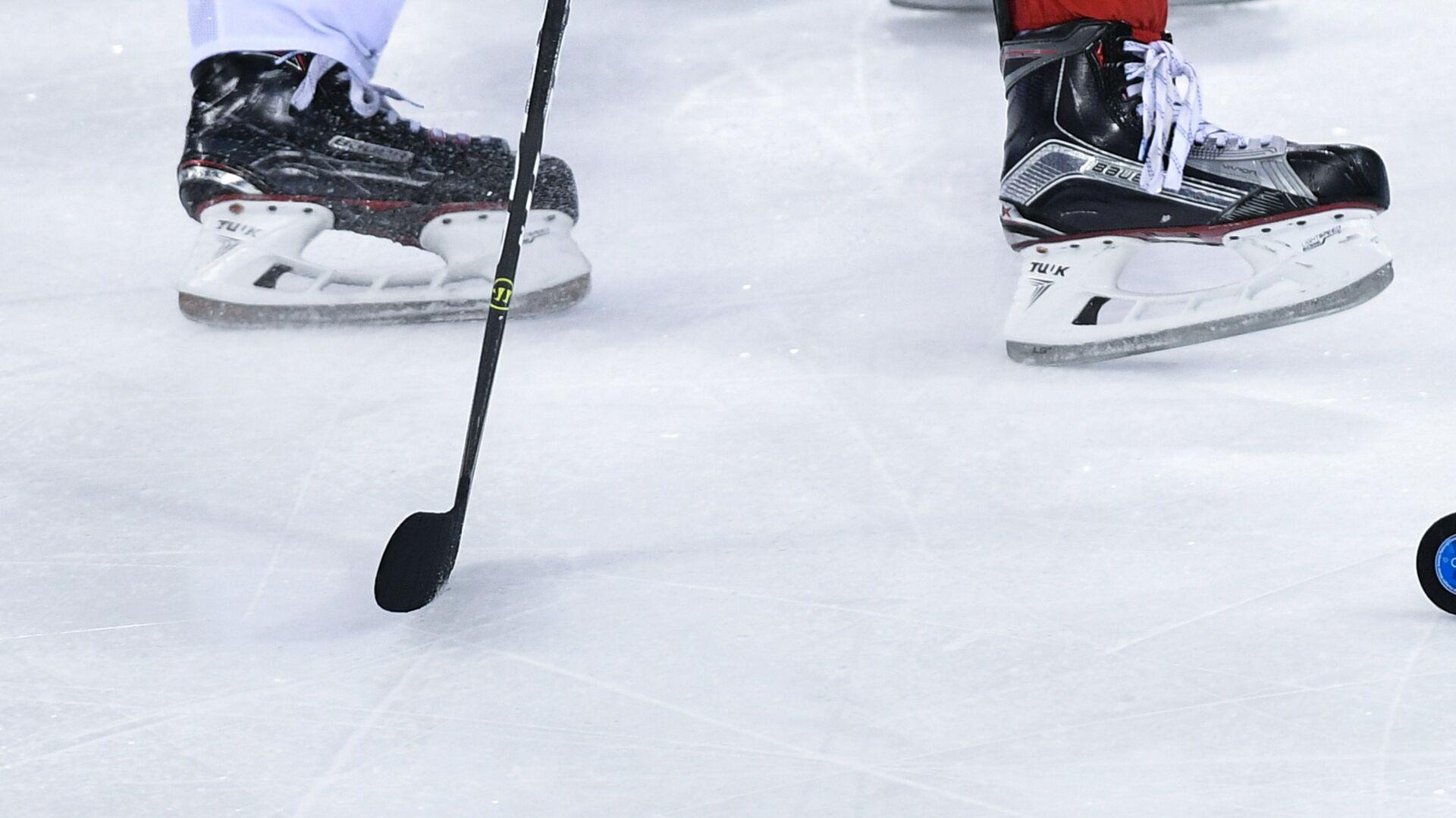 Игровой момент хоккейного матча на олимпийском турнире в Пхенчхане - РИА Новости, 1920, 25.05.2021