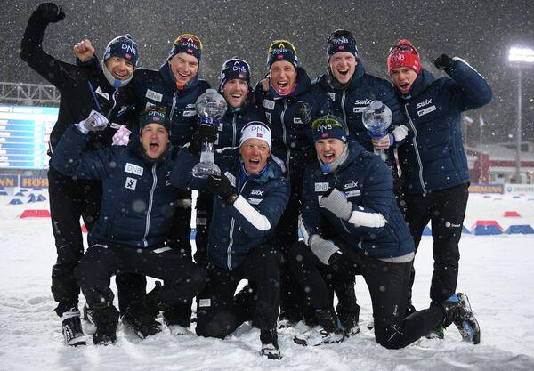 Биатлонисты сборной Норвегии