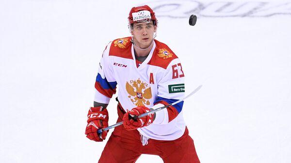 Нападающий олимпийской сборной России Павел Красковский