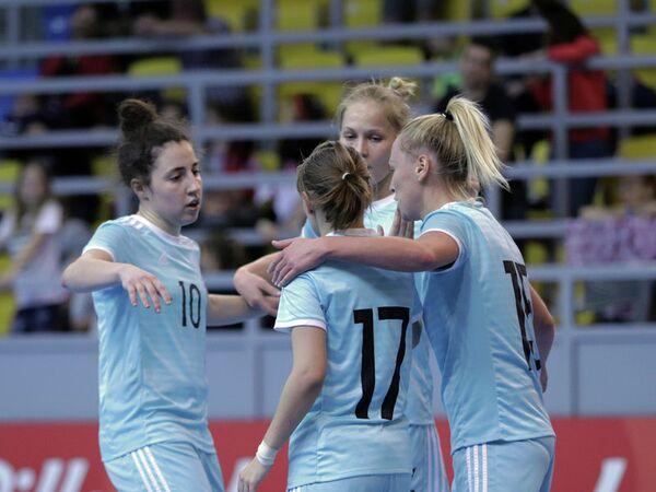 Игроки женской мини-футбольной сборной России
