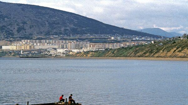 Вид на город Магадан и бухту Нагаево