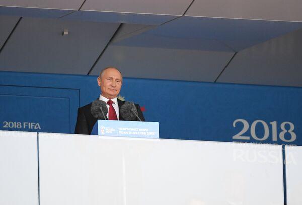 Владимир Путин на торжественной церемонии открытия