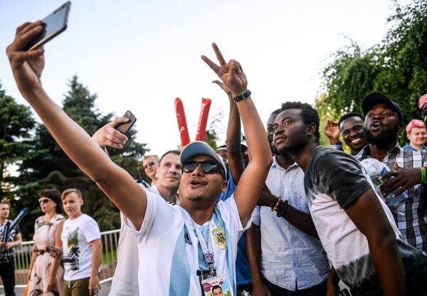 Болельщики во время чемпионата мира по футболу в Волгограде