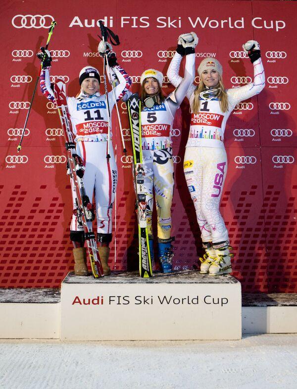 Призеры этапа Кубка мира по горнолыжному спорту