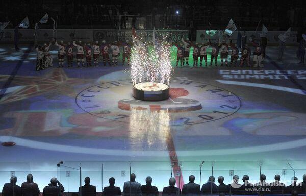 Церемония чествования ветеранов хоккея