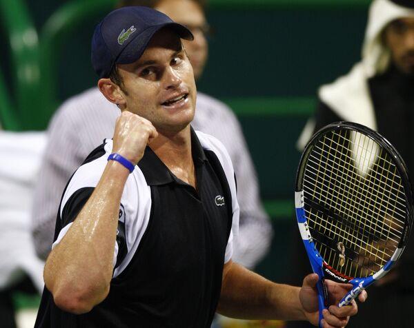 Энди Роддик на турнире в Дохе