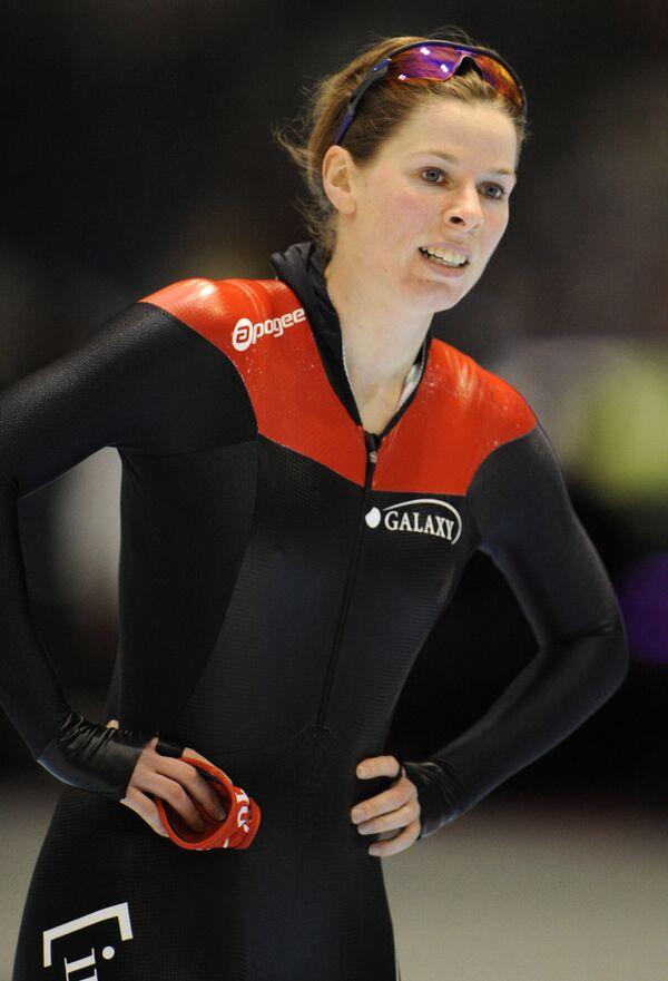 Канадская конькобежка Кристин Несбитт.
