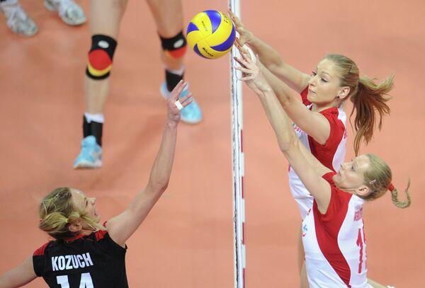 Игровой момент матча Польша Германия