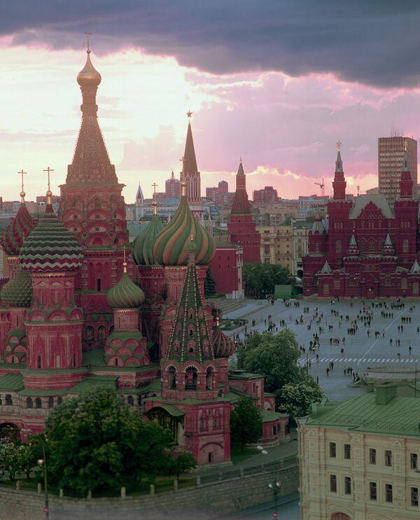 Вид на Собор Василия Блаженного