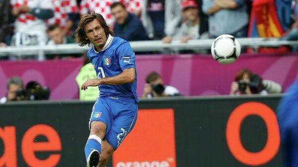 Andrea Pirlo scores a goal