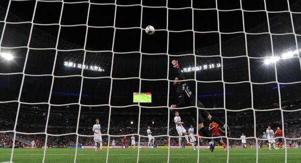Игровой момент матча сборных Португалии и Испании