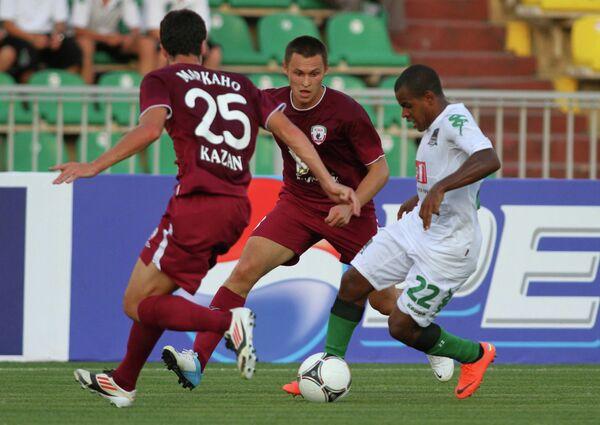 Игровой момент матча Краснодар - Рубин