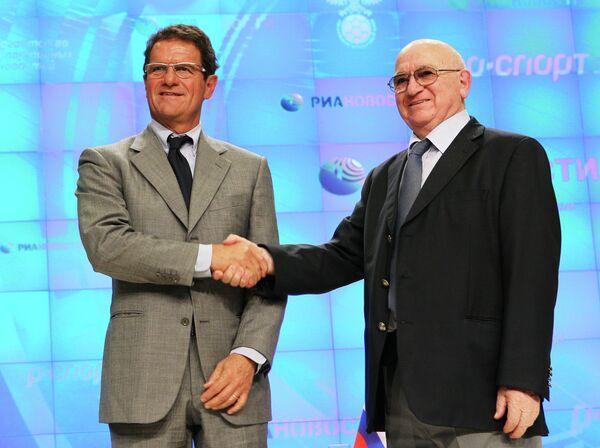 Фабио Капелло (слева) и Никита Симонян)
