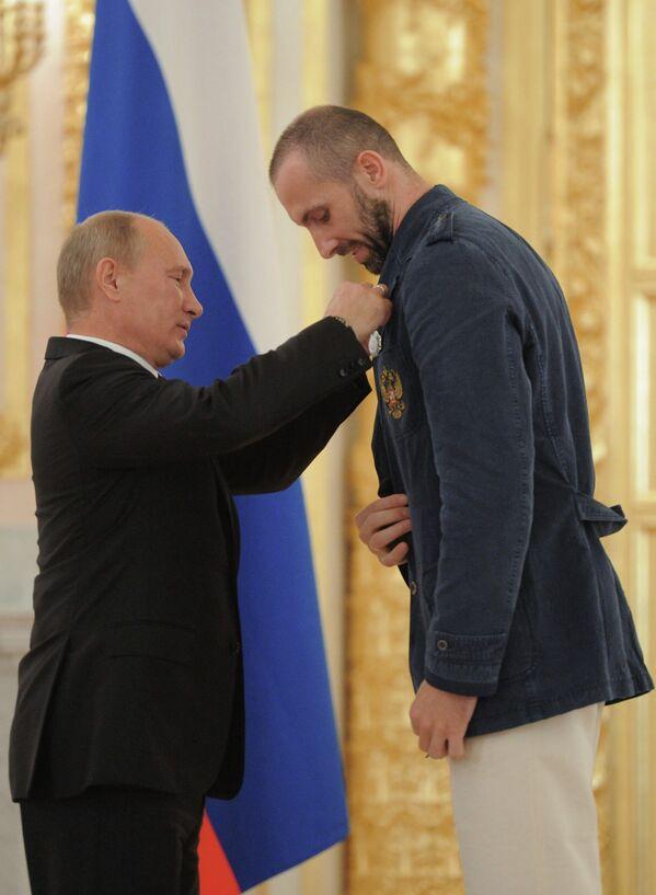 Владимир Путин и Сергей Тетюхин (слева направо)