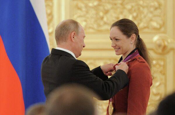 Владимир Путин и Анастасия Давыдова