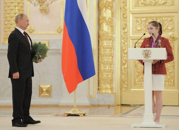 Владимир Путин  и Алия Мустафина