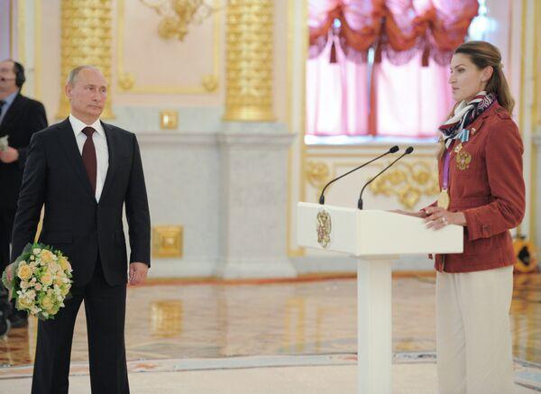 Владимир Путин и Анна Чичерова