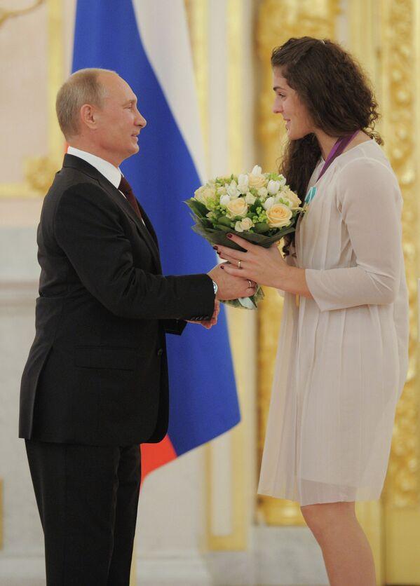 Владимир Путин и Наталья Воробьева