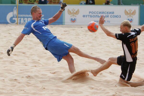 Игровой момент матча Локомотив - Кристалл