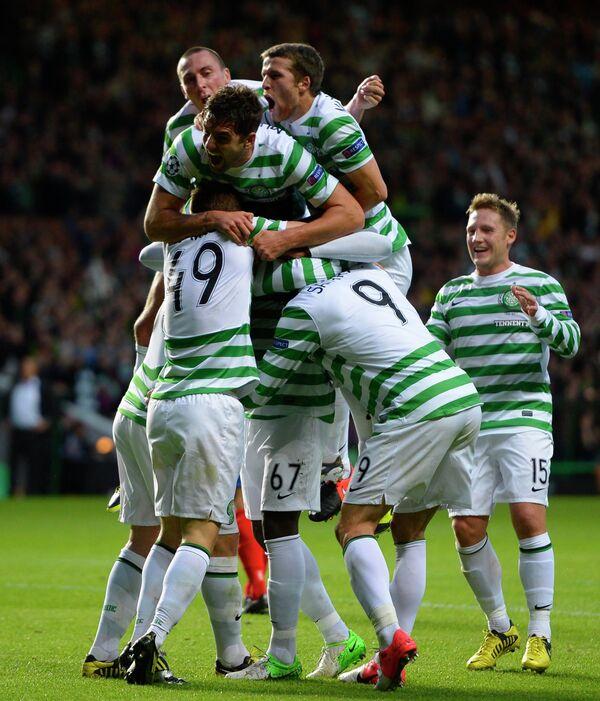 Игроки шотландского футбольного клуба Селтик