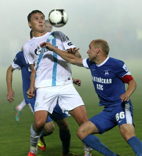 Игровой момент матча Балтика - Зенит