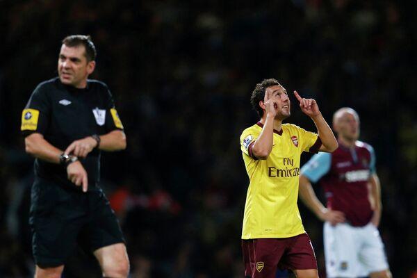 Игровой момент матча Вест Хэм - Арсенал