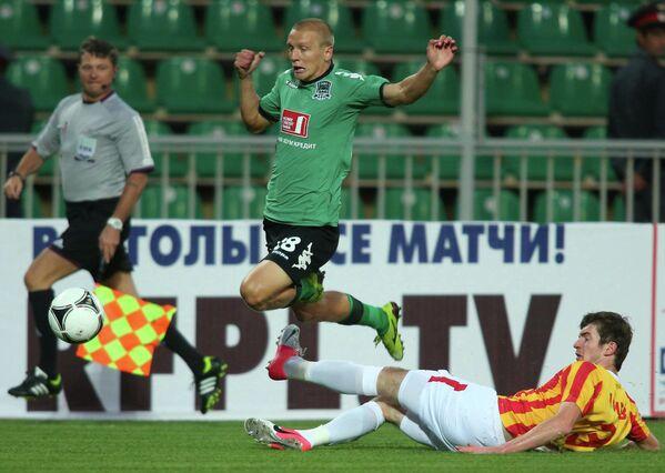 Игровой момент матча Краснодар - Алания