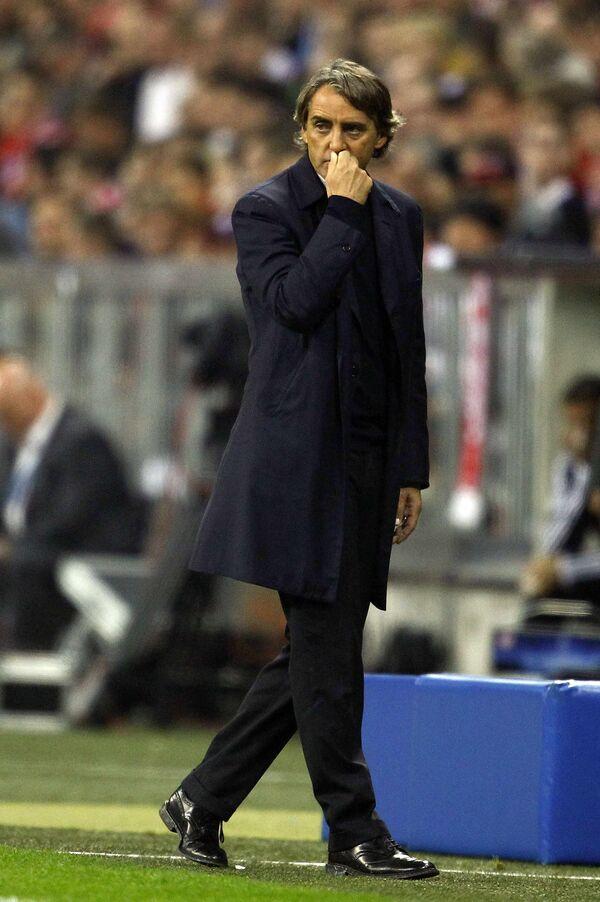 Тренер Манчини заявил, что Тевес при нем не будет играть за Ман Сити