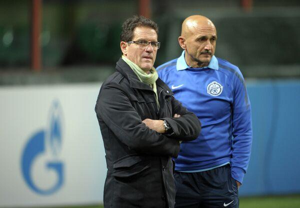 Фабио Капелло и Лучано Спаллетти (слева направо)