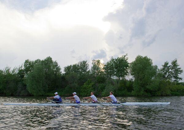 Спортсмены национальной команды России по академической гребле