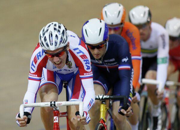 Велогонщик Артур Ершов на чемпионате мира по велотреку