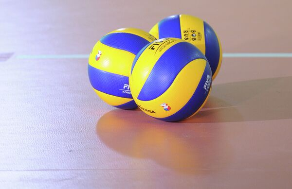 Волейбол. Тренировка мужской сборной России