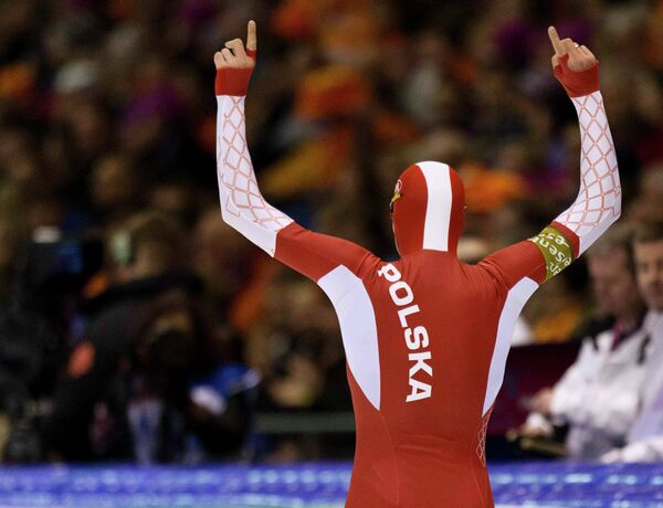 Польский конькобежец Збигнев Бродка