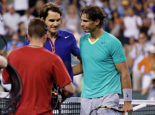 Роджер Федерер и Рафаэль Надаль (слева направо)