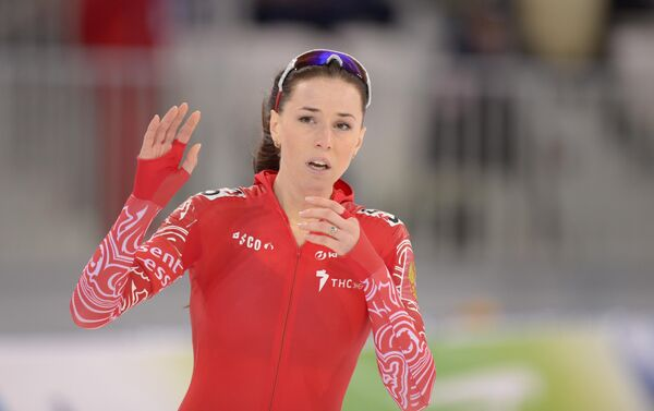 Россиянка Екатерина Лобышева в женском забеге на 1000 м