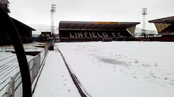 Кадры стадиона в Белфасте, где должна была играть сборная России