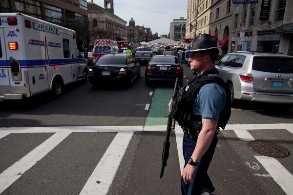 Ситуация на улицах Бостона после взрывов