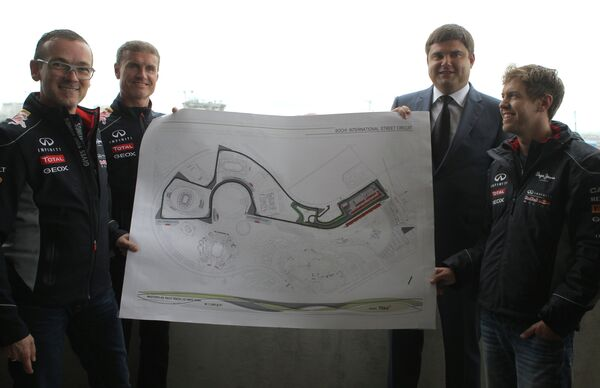 Себастьян Феттель, Николай Бутурлакин, Дэвид Култхард и Андреас Зигль (справа налево)